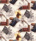 Novelty Cotton Fabric 44\u0022-At The Race