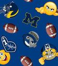 University of Michigan Wolverines Fleece Fabric 60\u0022-Emoji