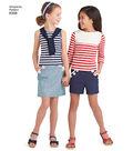 Simplicity Pattern 8398 Children\u0027s Apparel & Tote Bag-Size A (3-8)
