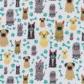 Snuggle Flannel Fabric -Sitting Pretty Pups