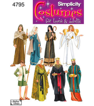 018bf793993 Simplicity Pattern 4795A Nativity Costumes-Size XS S M L XL