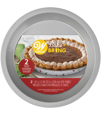 Wilton Bake and Bring 2pc Pie Pans-Trees