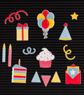 DCWV Home 15 Pack Letter Board Icons-Party