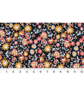 Quilter\u0027s Showcase Fabric -Marigold Small Floral on Navy