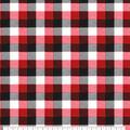 Super Snuggle Flannel Fabric-Red Black Tri Buffalo Check