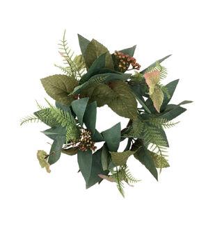 Blooming Autumn Rom Laurel Leaf Mini Wreath