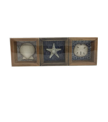 Indigo Mist Seashell, Starfish & Sand Dollar Tabletop Decor