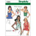 Simplicity Pattern 1365R5 14-16-18-2-Misses Tops Vests