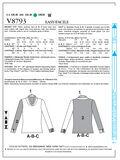 Vogue Patterns Misses Top-V8793
