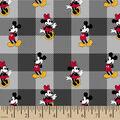 Disney Minnie Mickey Flannel Fabric-Toss Plaid
