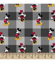 Disney Minnie Mickey Flannel Fabric-Toss Plaid, , hi-res