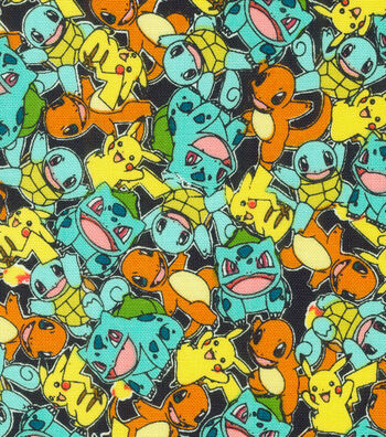 "Pokemon Cotton Fabric 44""-Micro Classic"