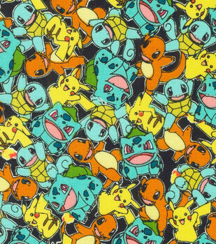 """Pokemon Cotton Fabric 44""""-Micro Classic"""