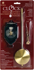 Pendulum Clock Movement 9-5/8\u0022-For 3/4\u0022 Surfaces