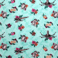 Disney Star Wars Cotton Fabric-Droids & X-wing on Light Turquoise