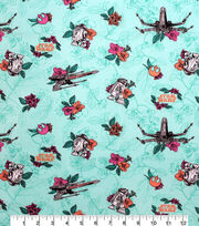 Disney Star Wars Cotton Fabric-Droids & X-wing on Light Turquoise, , hi-res