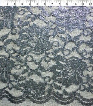 Casa Collection Stretch Lace Fabric -Total Eclipse
