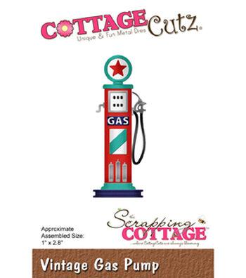 """CottageCutz Die-Vintage Gas Pump 1""""X2.8"""""""