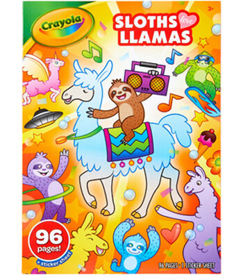 Crayola Coloring Book-Sloths Love Llamas