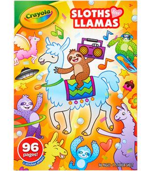 Crayola Coloring Book-Sloths Love Llamas