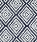 Specialty Luxe Fleece Fabric-Navy & White Diamonds