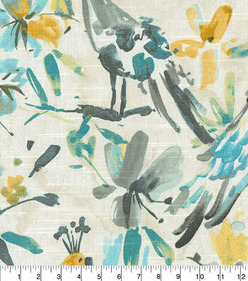 Kelly Ripa Home Upholstery Swatch 13''x13''-Pool Flora Flaunt