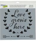 The Crafter\u0027s Workshop 12\u0027\u0027x12\u0027\u0027 Stencil-Love Grows