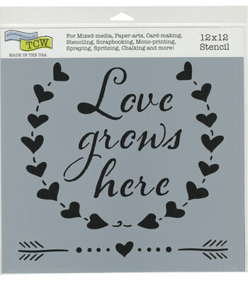The Crafter's Workshop 12''x12'' Stencil-Love Grows