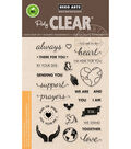 Hero Arts 26 pk Clear Stamps-Support Prayers Love