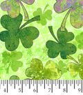 Susan Winget St. Patrick\u0027s Day Fabric -Green Shades of Clover