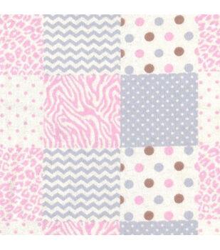 Nursery Flannel Fabric -Geometrics