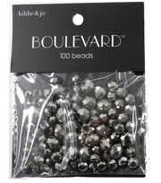hildie & jo Boulevard 100 Pack Mix Multi Sizes Glass Beads-Silver, , hi-res