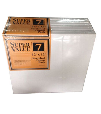 "Stretched Canvas Super Value Pack 12""x12"""