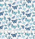 Keepsake Calico Cotton Fabric -Butterfly Multi Blue Green