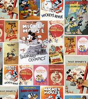 Disney Mickey & Minnie Cotton Fabric -Poster, , hi-res