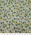 Quilter\u0027s Showcase Cotton Fabric-Packed Flowers Teal Green