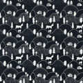 Snuggle Flannel Fabric-Black & White Hilly Woodland