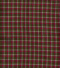 Homespun Cotton Fabric  43\u0022-Green Pink Plaid