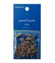 Blue Moon 12mm Metal Spacer Bead-Leaf 20PK/Silver, , hi-res