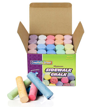 Creativity Street Sidewalk Chalk, Assorted Colors, 20 Per Box, 6 Boxes