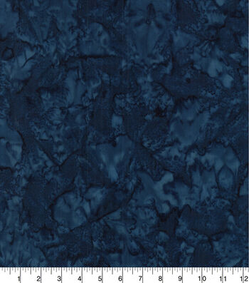 Cotton Fabric 44''-Navy Tonal Batik