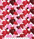 Valentine\u0027s Day Cotton Fabric 44\u0022-Etched Hearts