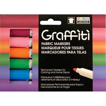 Graffiti Fabric Marker 6/Pkg