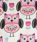 Snuggle Flannel Fabric -Folk Owl