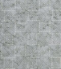 Modern Cotton Fabric -Gray Stacking Squares
