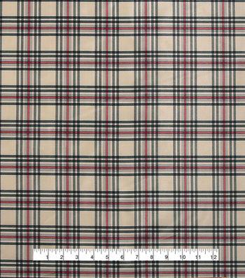 Anti-Static Lining Fabric -Cream Plaid