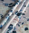 Casa Embellish Gardenia Satin Fabric 57\u0027\u0027-Peach & Skin Floral Print