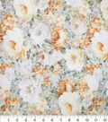 Premium Cotton Fabric-Blue & Pearl Packed Garden