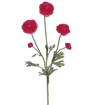 """Bloom Room 28"""" Ranunculus Spray-Pink"""