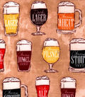 Snuggle Flannel Fabric -Beer Varieties